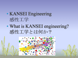 What is KANSEI engineering?