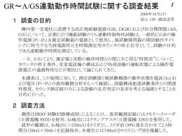 GS連動動作時間試験(誤差)