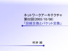 ネットワークアーキテクチャ 第01回