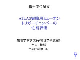 修士学位論文 - 神戸大学 大学院理学研究科 物理学専攻 粒子物理学