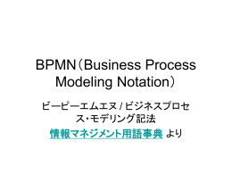 BPMN(Business Process Modeling Notation)