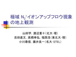 SS-520-2 ロケットキャンペーン期間における 極域 N2+イオンアップフロウ