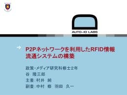 P2Pネットワークを利用したRFID情報流通システムの構築