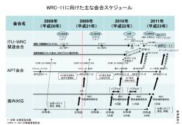 参考資料5 WRC-11に向けた主な会合スケジュール
