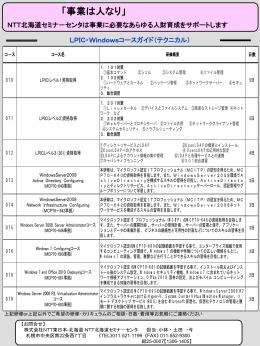 LPIC・Windowsコースガイド(テクニカル)
