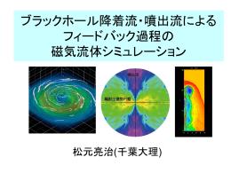 ブラックホール降着流・噴出流によるフィードバック過程の磁気流体
