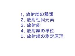 2, 放射線の基本的性質と測定方法