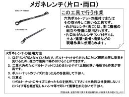 日常の工具の取扱い-05メガネレンチ(片口、両口)[PPT]
