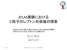 ATLAS実験におけるZ`粒子のレプトン対崩壊の探索