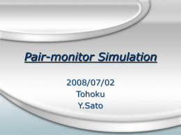 Pair-monitor Simulation