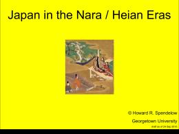 Nara and Heian Periods