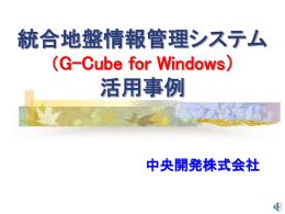 G-Cube 活用事例