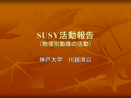 SUSY別働隊の活動