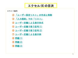 (6) ユーザー定義