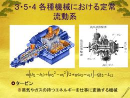 3・5・4 各種機械における定常流動系