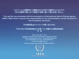IAEAによる事故の検討