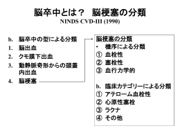 脳卒中とは? 脳梗塞の分類 NINDS CVD