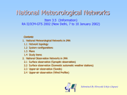 National Meteorological Networks