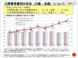 資料1-5_大阪労働局の障がい者就労支援施策 [PowerPoint