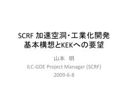 ILC-SCRF 加速空洞・工業化開発 基本構想とKEKへの要望 - ILC-Asia