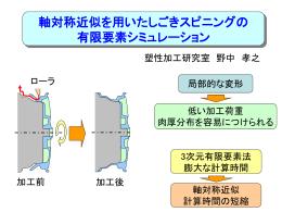 軸対称近似を用いたしごきスピニングの有限要素シミュレーション