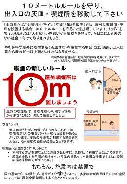 「山口県たばこ対策ガイドライン」 知っていますか?