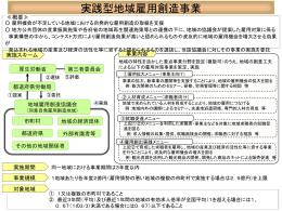 実践型地域雇用創造事業の概要(PDF:KB)