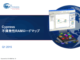 Cypress Nonvolatile RAM Roadmap