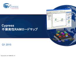 Cypress Nonvolatile RAM Roadmap