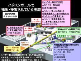 K - 中間子核(E15)