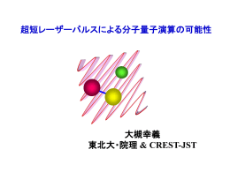 超短レーザーパルスによる分子量子演算の可能性