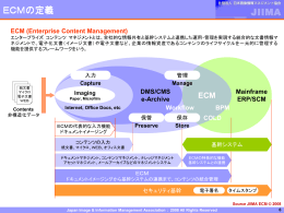ECM, ECMの定義