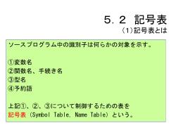 5.2 記号表