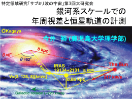 銀河系スケールでの年周視差と恒星軌道の計測