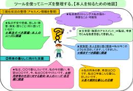 ④ニーズ整理表(pptファイル)