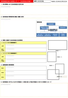 添付資料(知的財産)・作成フォーマット
