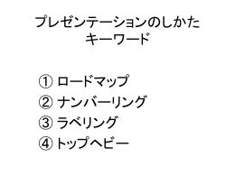 プレゼンテーションの仕方(pptファイル)