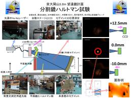 京大岡山3.8m 望遠鏡計画 分割鏡ハルトマン試験