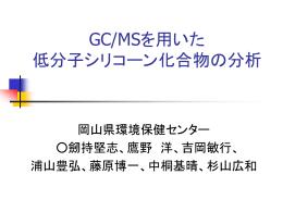 GC/MSを用いた低分子シリコーン化合物の分析