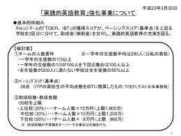 強化事業・スケジュール( ppt file )