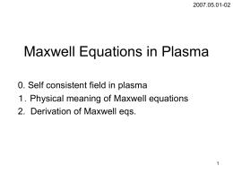 Maxwell eq.