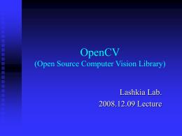 2008_OpenCV_Lecture