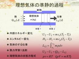 3・6 理想気体における 熱力学第1法則