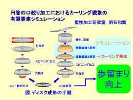 円管の口絞り加工におけるカーリング現象の有限要素