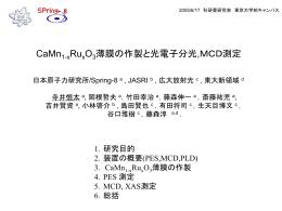 MCD測定 - 藤森研究室