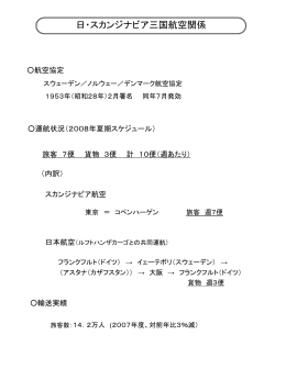 日・スカンジナビア三国航空関係