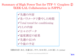 Summary of High Power Test for TTF-V Couplers designed by