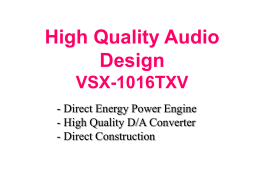 High Quality Audio Design VSX
