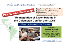 Reintegration of Excombatants in the Colombian Conflict