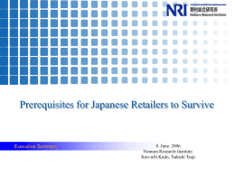 2. Consumption structure in Japan to 2020. 1) Fragmental